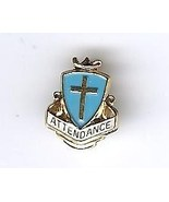 Collectibles Pin Pinback Perfect Attendance Catholic School Cross Blue - $5.00