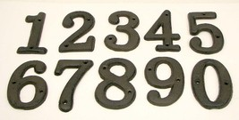 "Soild Cast Iron House Address Numbers 3 1/2"" ta... - $32.50"