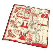 HERMES Scarf Cavalleria d'Etriers Cashmere Rouge White Noir Stole 2015AW... - $1,034.80