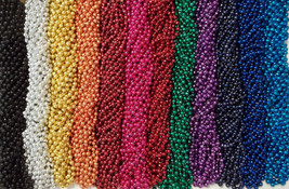 48 Mardi Gras Beads Football Party Favors Huge Lot 4 Dozen Tailgating Games - $13.92