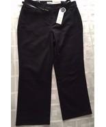 CHARTER CLUB WOMEN TUMMY SLIMMING BLACK SLIM LEG CAPRI CLASSIC FIT PANTS... - $29.99