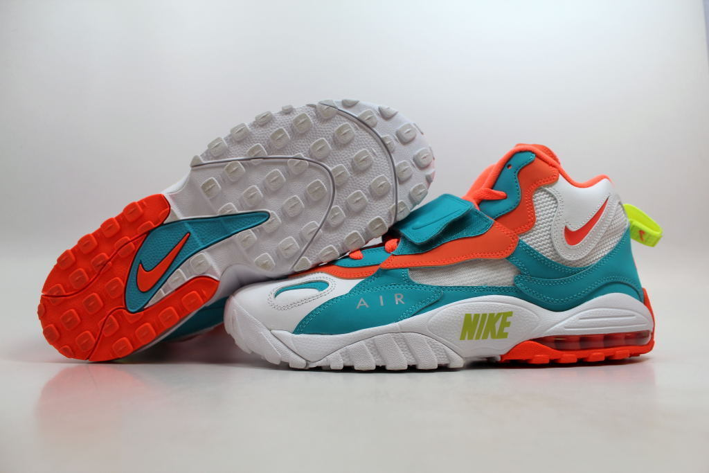 9ae0342e657 S l1600. S l1600. Previous. Nike Air Max Speed Turf White Mango-Crimson Miami  Dolphins 525225-102 SZ