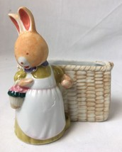 Vintage Takahashi Bunny Rabbit Toothbrush Toothpaste Holder or Pencil Cup - $24.70