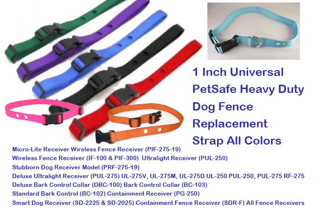 1 Inch Universal Pet Heavy Duty Dog Fence Replacement Strap All Colors 2 hole