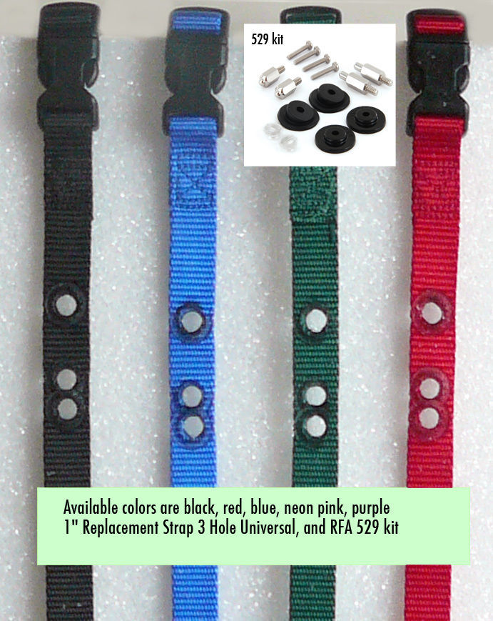 "1"" Replacement Strap 3 Hole Petsafe With- RFA 529 kit"