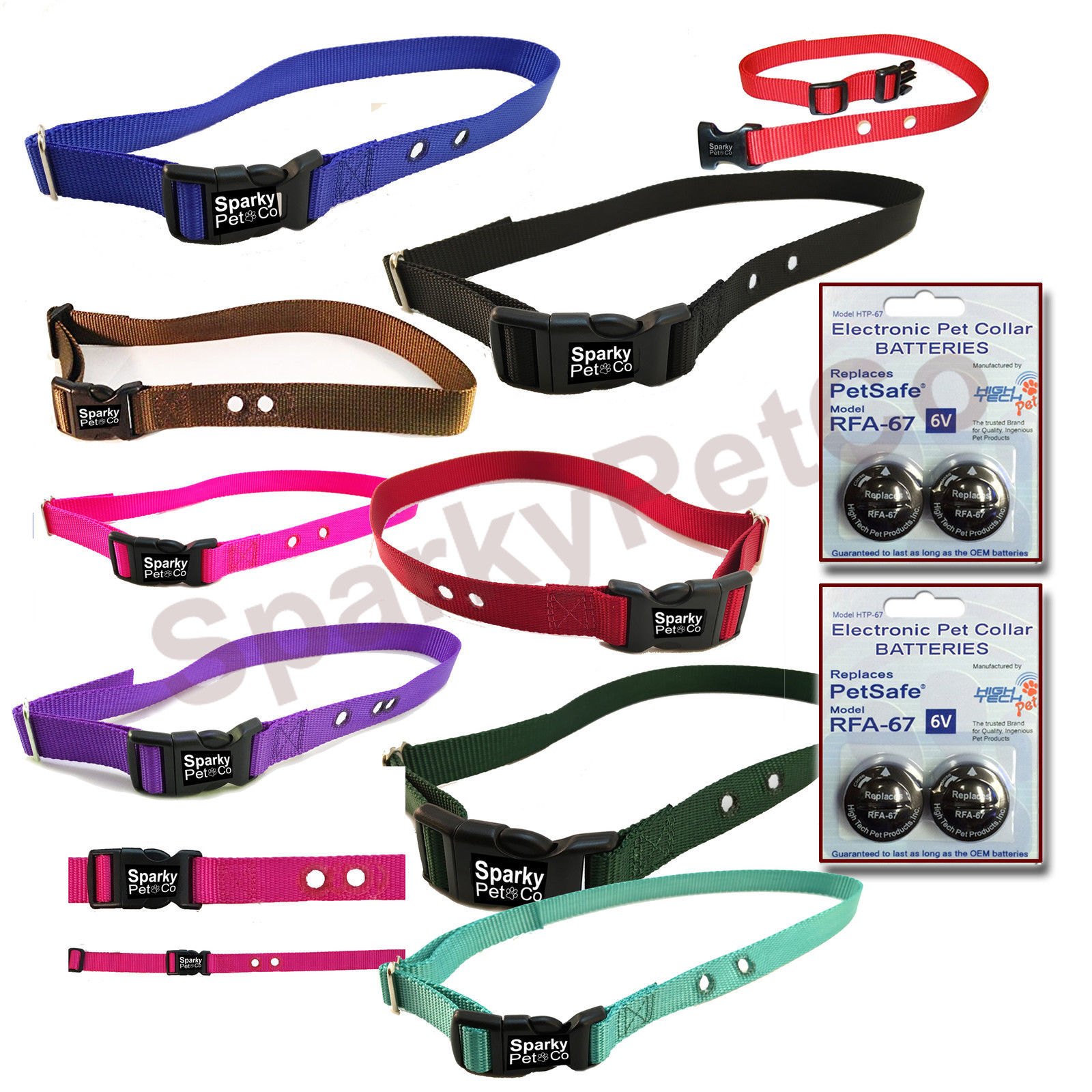 3/4 INCH Replacement Collar Strap Combo WITH 4 High Tech RFA 67 BATTERIES