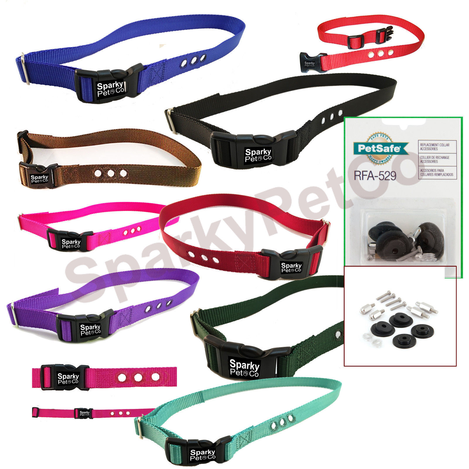 3 hole PetSafe Compatible RFA-529 & PIF 275 Replacement  Strap kit