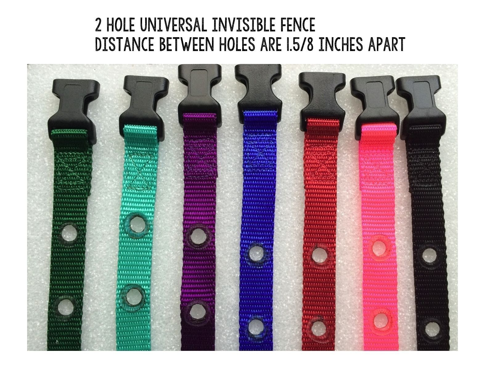 "Invisible Fence R21 R22 R51 Universal Nylon Collar Straps 3/4"" 2 Hole 1 5/8 in."