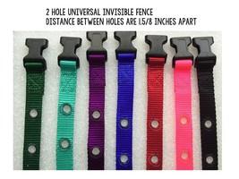 "Invisible Fence R21 R22 R51 Universal Nylon Collar Straps 3/4"" 2 Hole 1 ... - $6.68"