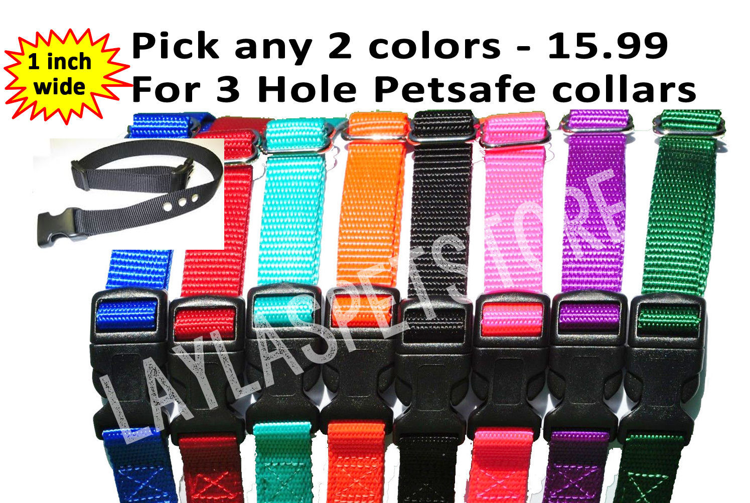"PetSafe 2-1"" Nylon Dog PETSAFE-Standard-Bark-Control-Collars BC-102"
