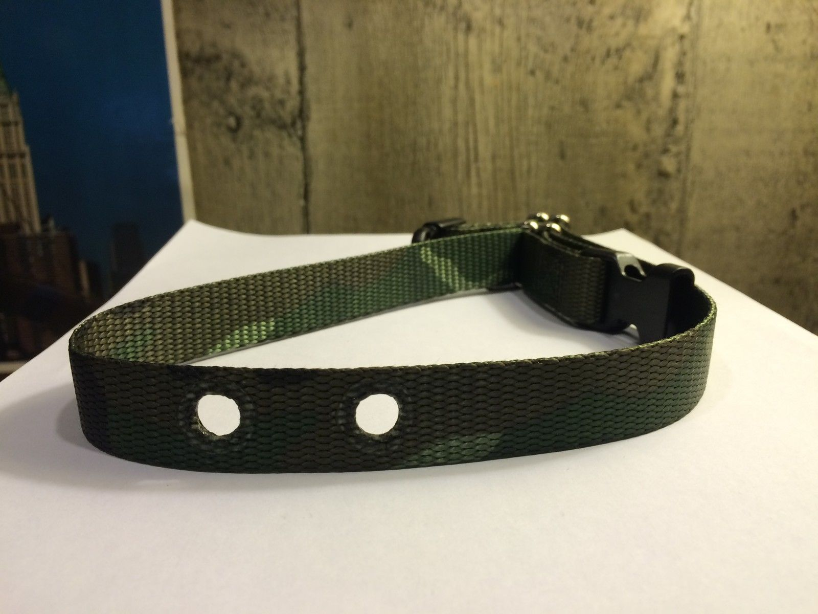 PETSAFE SPORTDOG GREEN CAMO REPLACEMENT COLLAR 2 HOLED 3/4' WIDE