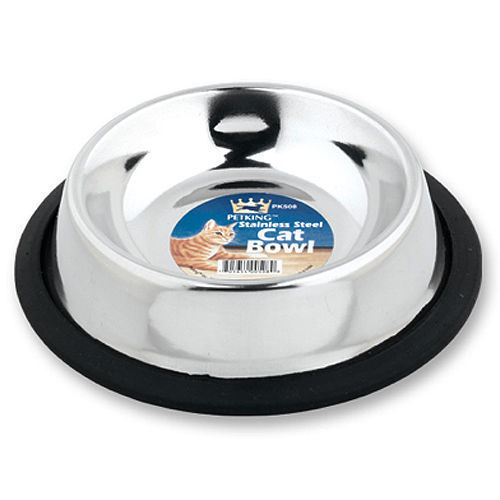Stainless Steel Cat Bowls Small Dog Water Food No Tip Bowls  6 oz - 6 Bowls