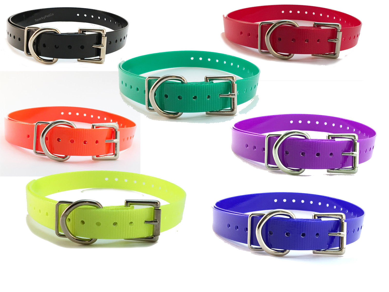 "Yard & Park Remote Trainer Replacement Collar Strap 3/4""  7-colors"