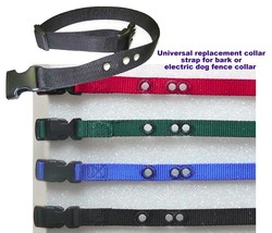 Universal replacement collar strap for bark or electric dog fence collar - $6.47