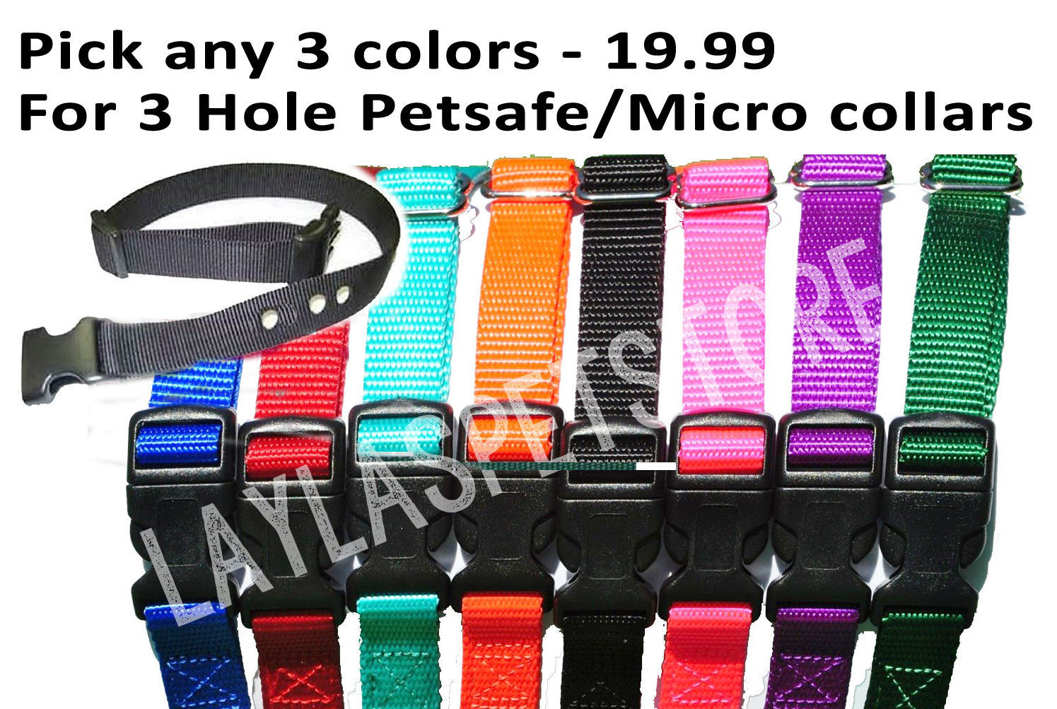 "PetSafe 3 -3/4"" Nylon Dog PETSAFE-Standard-Bark-Control-Collars BC-102"