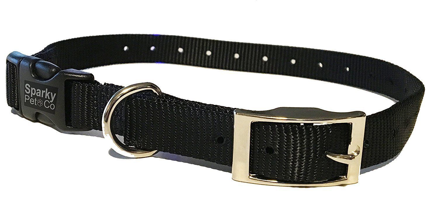 "Sparky PetCo E Collar Compatible 3/4"" Nylon Double Buckle Quick Snap Dog Straps"