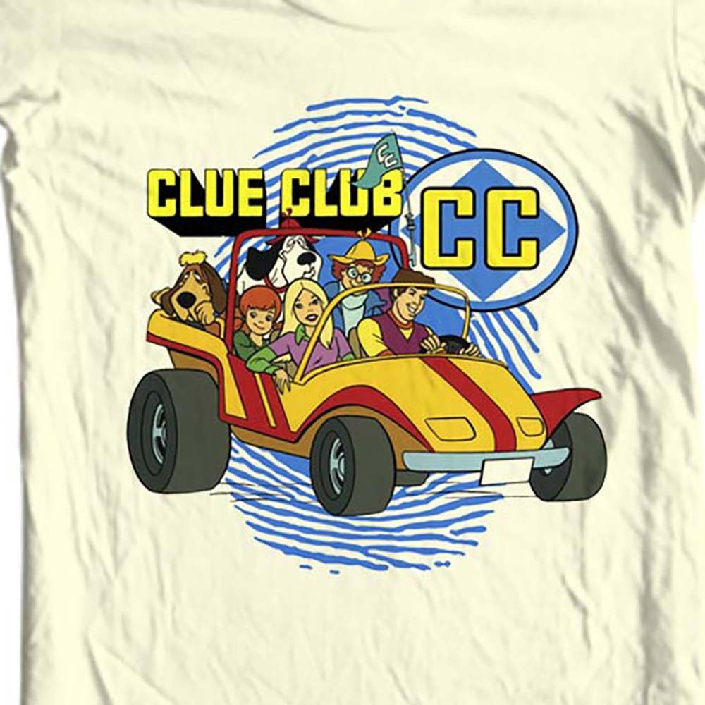 Clue club retro saturday morning cartoons tan t shirt
