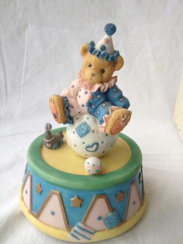 Cherished Teddies Music Clown Sitting on Ball You Are My Sunshine  336459 Box