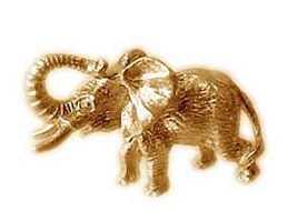 Gold Plated over real Sterling Silver Elephant Figurine Figure statue Jewelry - $72.74