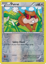 Patrat 84/111 Reverse Holo Common Pokemon XY Furious Fists Card - $1.09