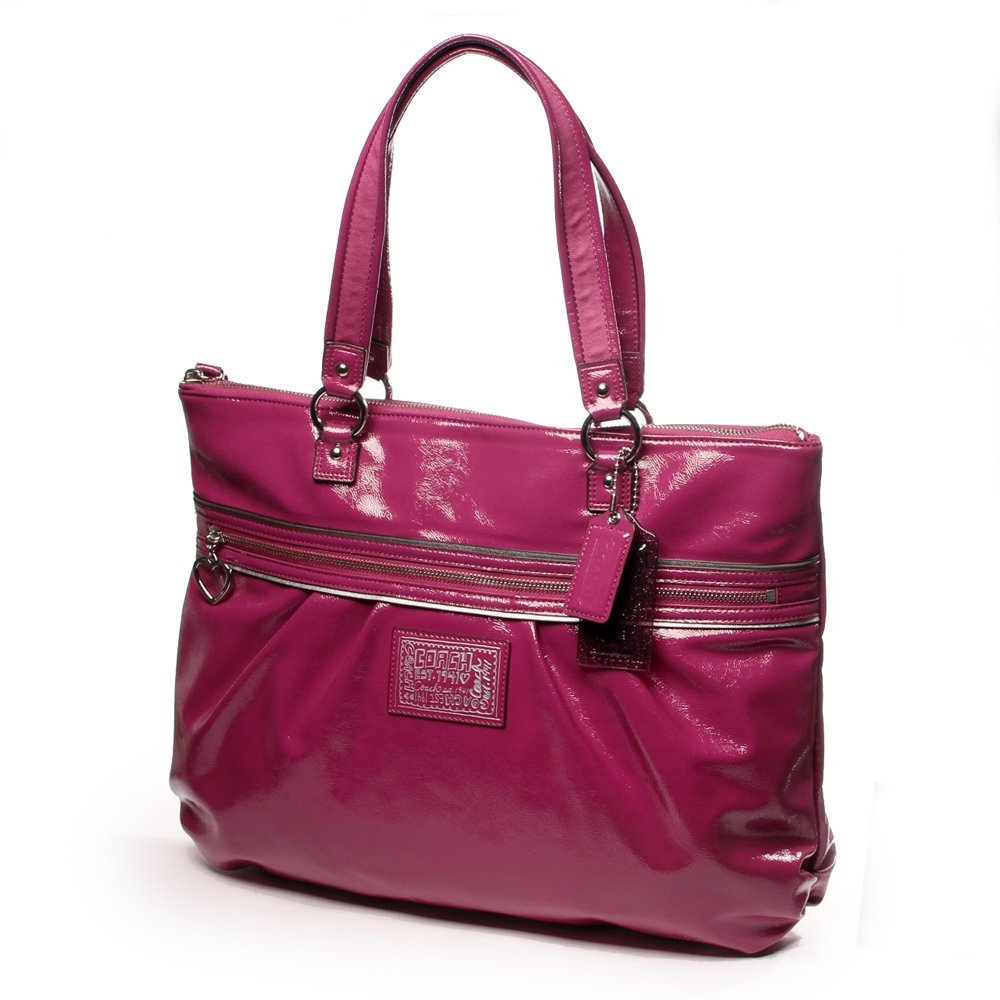 Coach Poppy Daisy Liquid Gloss Patent Leather 20004 Tote Bag