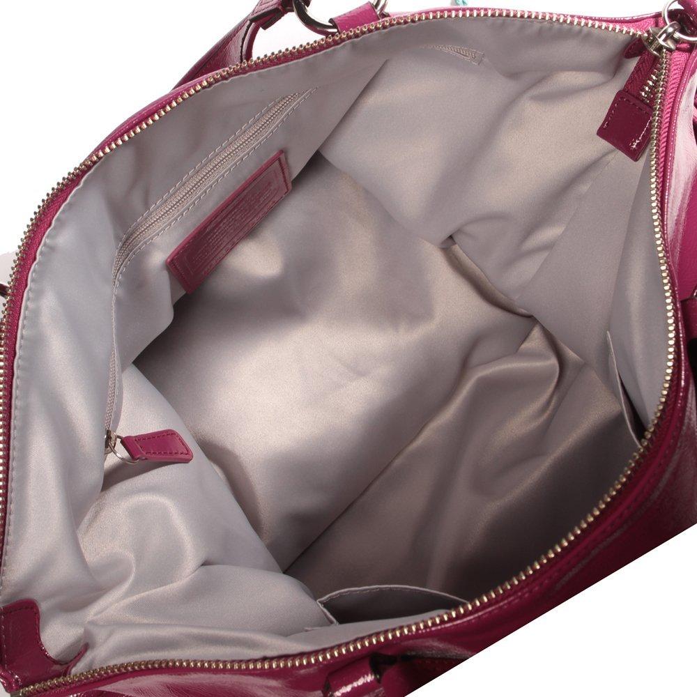 Coach Poppy Daisy Liquid Gloss Patent Leather 20004 Tote Bag