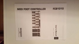 Behringer MIDI Foot Controller FCB1010 User Manual - $9.49