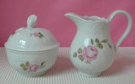 Dresden Hutschenreuther Creamer & Sugar China 9560 Floral Sprays Germany Cream - $38.79