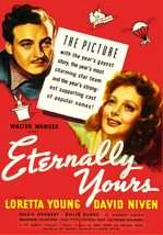 Eternally Yours DVD - 1939 B/W Romantic Comedy Loretta Young David Niven - $19.99