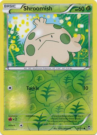 Shroomish 6/111 Reverse Holo Common Pokemon XY Furious Fists Card