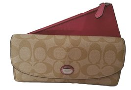 Coach Peyton Signature Envelope Wallet with Pou... - $235.62