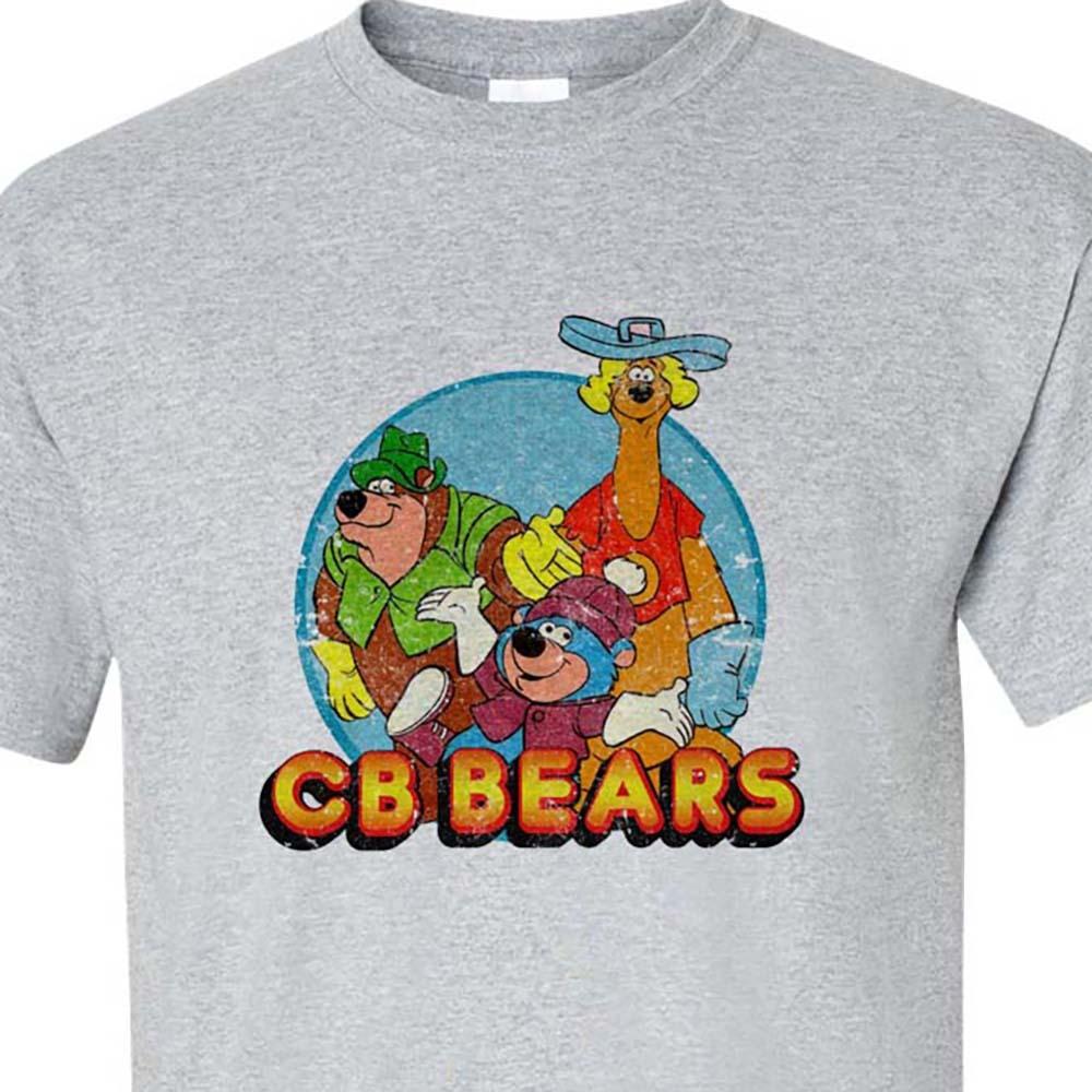 Cb bears retro old cartoons saturday morning cartoons gray t shirt