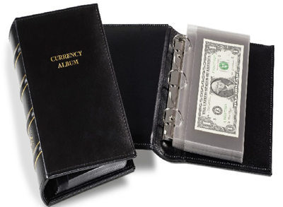 Single Pocket Currency Holder + 10 refill pages