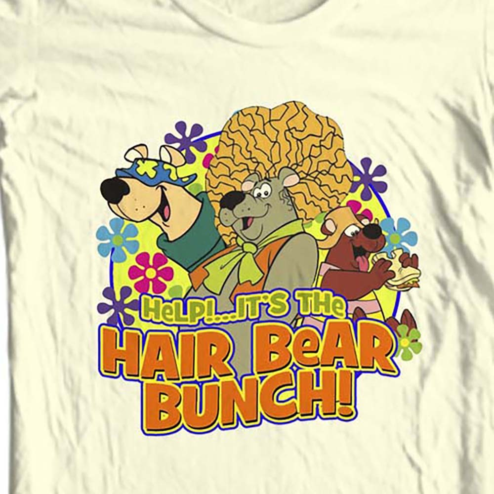 The Hair Bear Bunch T shirt retro 80's Saturday Morning Cartoons 100% cotton