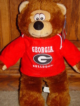 "Georgia BullDogs Hoodie Bear Show Your Team Spirit Georgia Hoodie Bear 13"" - $12.00"