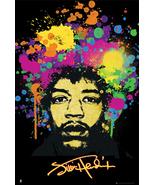 Jimi Hendrix Splatter Art Poster - $5.90