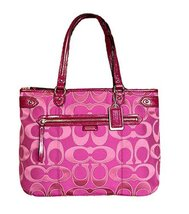 Coach Daisy Outline Multi Signature Emma Tote Shoulder Bag F29307 - $374.22