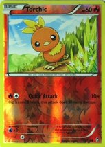 Torchic 12/111 Reverse Holo Common Pokemon XY Furious Fists Card - $1.09