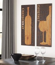 2-Pc Wall Decor Set in Brown and Natural - $85.83