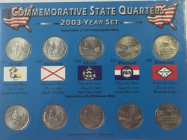 2003 P & D COMPLETE UNCIRCULATED STATE QUARTER SET (10 COINS) IN DISPLAY... - $5.90
