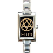 Ladies Rectangular Italian Charm Watch HIM Heartagram Gift model 17911497 - $11.99