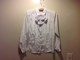 Worthington Semi Sheer Pearl White Button Blouse Sz 10