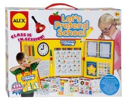 ALEX Toys Pretend & Play Let's Pretend School time activities white boar... - $28.01