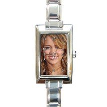 Ladies Rectangular Italian Charm Watch Miley Cyrus Gift model 24614229 - $11.99