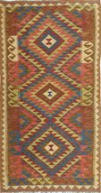"Kilim Afghan Old style rug 3'5""x6'6"" (105x198 cm) Oriental Carpet - $202.00"