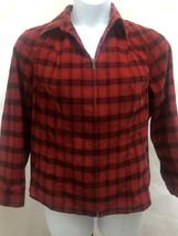 Christopher & Banks X 1X Jacket Red Black Buffalo Plaid Stretch Corduroy... - $22.52