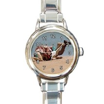 Ladies Round Italian Charm Bracelet Watch Camels Gift model 34789583 - $11.99