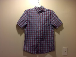 CHAPS Short Sleeve Plaid Button Up Shirt Sz Petite Small