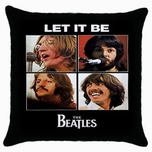 The Beatles Photo Black Cushion Cover Throw Pillow Case - $15.00