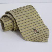 Tommy Hilfiger Gold Gray Blue Stripes Silk Tie Classic Necktie -B - $8.81